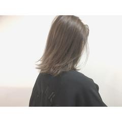 色気 ボブ ハイライト アッシュ ヘアスタイルや髪型の写真・画像
