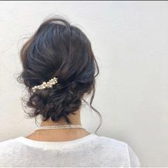 結婚式アレンジ 結婚式 結婚式ヘアアレンジ フェミニン ヘアスタイルや髪型の写真・画像