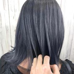 エレガント トレンド 切りっぱなしボブ ミディアム ヘアスタイルや髪型の写真・画像