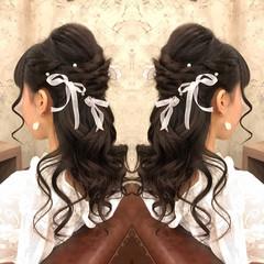 カール まとめ髪 ガーリー ヘアアレンジ ヘアスタイルや髪型の写真・画像