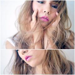 外国人風 こなれ感 大人女子 小顔 ヘアスタイルや髪型の写真・画像
