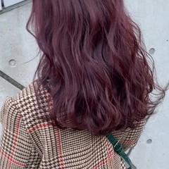 ピンクアッシュ ガーリー ピンク ピンクラベンダー ヘアスタイルや髪型の写真・画像