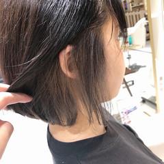 ナチュラル ボブ インナーカラー インナーカラーホワイト ヘアスタイルや髪型の写真・画像