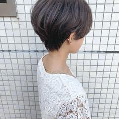グラデーションカラー ナチュラル ハンサムショート ショート ヘアスタイルや髪型の写真・画像