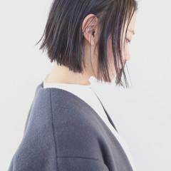 ストリート 切りっぱなし 暗髪 黒髪 ヘアスタイルや髪型の写真・画像