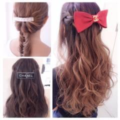 三つ編み モード ヘアアレンジ ストリート ヘアスタイルや髪型の写真・画像