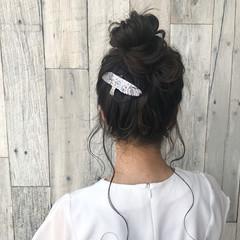 フェミニン 簡単ヘアアレンジ 女子会 色気 ヘアスタイルや髪型の写真・画像