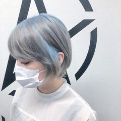モード ブリーチ ブリーチオンカラー ホワイトブリーチ ヘアスタイルや髪型の写真・画像