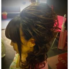 セミロング ヘアスタイルや髪型の写真・画像