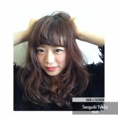フェミニン モテ髪 セミロング ガーリー ヘアスタイルや髪型の写真・画像