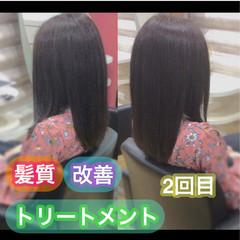 髪質改善トリートメント 大人ロング ナチュラル ロング ヘアスタイルや髪型の写真・画像