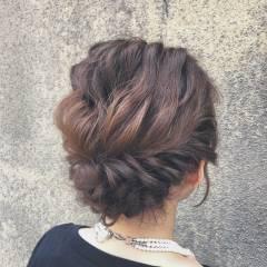 ヘアアレンジ 外国人風 セミロング パーティ ヘアスタイルや髪型の写真・画像