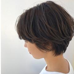 暗髪 大人かわいい デート ショートヘア ヘアスタイルや髪型の写真・画像
