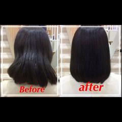 ヘアアレンジ 縮毛矯正 時短 ナチュラル ヘアスタイルや髪型の写真・画像