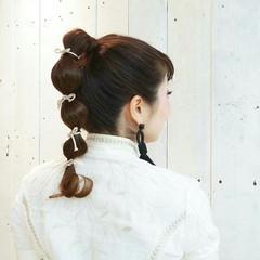 個性的 ヘアアレンジ 結婚式 ストリート ヘアスタイルや髪型の写真・画像