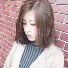 ベージュ モテ髪 コンサバ フェミニン ヘアスタイルや髪型の写真・画像