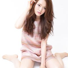 かわいい フェミニン ロング 大人女子 ヘアスタイルや髪型の写真・画像