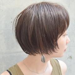 ショート デート ナチュラル ウェットヘア ヘアスタイルや髪型の写真・画像