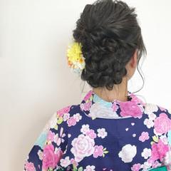 花火大会 夏 こなれ感 ヘアアレンジ ヘアスタイルや髪型の写真・画像