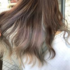 ベリーピンク ストリート ピンク セミロング ヘアスタイルや髪型の写真・画像