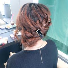 ロング 上品 エレガント 編み込み ヘアスタイルや髪型の写真・画像