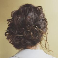 セミロング ヘアアレンジ 大人かわいい アップスタイル ヘアスタイルや髪型の写真・画像