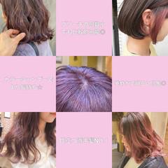 ピンクベージュ ベリーピンク ピンクアッシュ ナチュラル ヘアスタイルや髪型の写真・画像