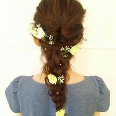 ヘアアレンジ ロング ブライダル 結婚式 ヘアスタイルや髪型の写真・画像