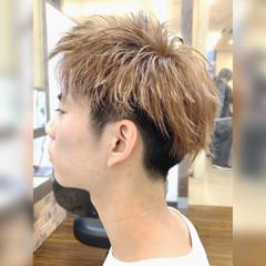 メンズショート ダブルカラー モテ髪 ツーブロック ヘアスタイルや髪型の写真・画像