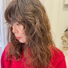 モード パーマ ロング ゆるふわパーマ ヘアスタイルや髪型の写真・画像