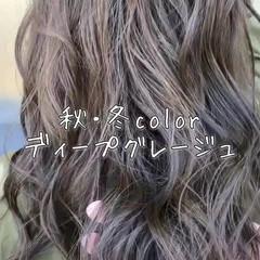 外国人風カラー 女子力 グレージュ 透明感 ヘアスタイルや髪型の写真・画像