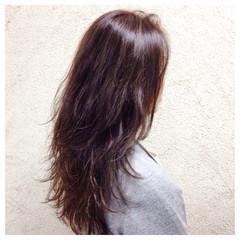 大人女子 こなれ感 ハイライト ロング ヘアスタイルや髪型の写真・画像
