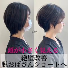 ショートヘア ベリーショート ショートボブ フェミニン ヘアスタイルや髪型の写真・画像