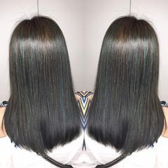 セミロング ストリート 秋 アウトドア ヘアスタイルや髪型の写真・画像