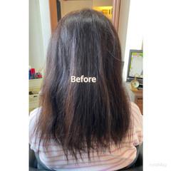 髪質改善 美髪 艶髪 セミロング ヘアスタイルや髪型の写真・画像