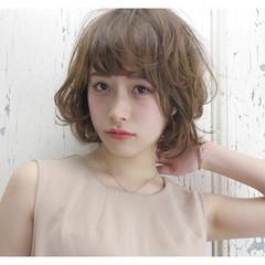 色気 こなれ感 小顔 ミディアム ヘアスタイルや髪型の写真・画像