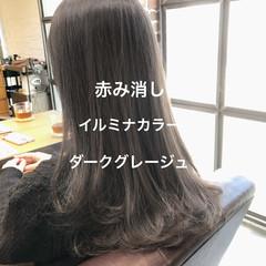ラベンダーアッシュ イルミナカラー グレージュ ナチュラル ヘアスタイルや髪型の写真・画像