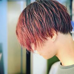 レッド かっこいい ボブ ピンク ヘアスタイルや髪型の写真・画像