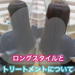 大人ロング ナチュラル 切りっぱなしボブ 髪質改善 ヘアスタイルや髪型の写真・画像
