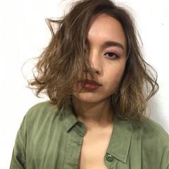 カール ボブ ニュアンス 透明感 ヘアスタイルや髪型の写真・画像