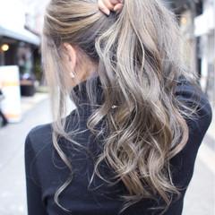 ゆるふわ 大人女子 セミロング アッシュ ヘアスタイルや髪型の写真・画像