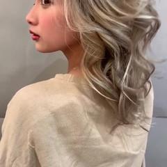 ロング スポーツ デート フェミニン ヘアスタイルや髪型の写真・画像