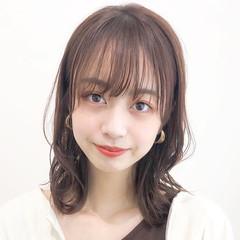 デジタルパーマ ヘアアレンジ パーティ ミディアム ヘアスタイルや髪型の写真・画像