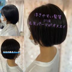 ガーリー ミニボブ 切りっぱなしボブ ショート ヘアスタイルや髪型の写真・画像