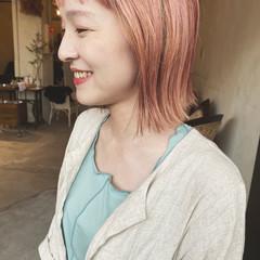 ペールピンク ベリーピンク ナチュラル ラベンダーピンク ヘアスタイルや髪型の写真・画像