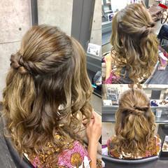 結婚式 エレガント 女子会 ミディアム ヘアスタイルや髪型の写真・画像
