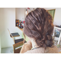 ヘアアレンジ 結婚式 パーティ 簡単ヘアアレンジ ヘアスタイルや髪型の写真・画像