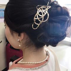 シニヨン 大人女子 抜け感 ヘアアレンジ ヘアスタイルや髪型の写真・画像