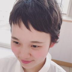 オン眉 ショート 個性的 似合わせ ヘアスタイルや髪型の写真・画像
