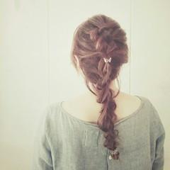 外国人風 ゆるふわ フェミニン 編み込み ヘアスタイルや髪型の写真・画像